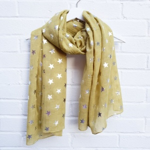 Silver Stars - Chartreuse Scarf