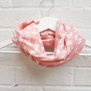 Girls Snood - Pink & White Bows