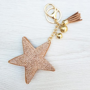 Sparkly Star Keyring - Gold