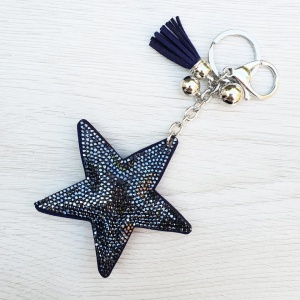 Sparkly Star Keyring - Navy