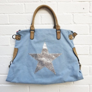 Star Tote Bag - Baby Blue