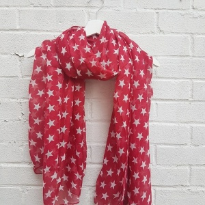Stars - Red Scarf