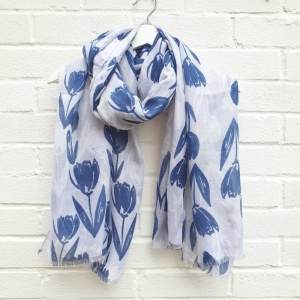 Tulips - Blue Scarf
