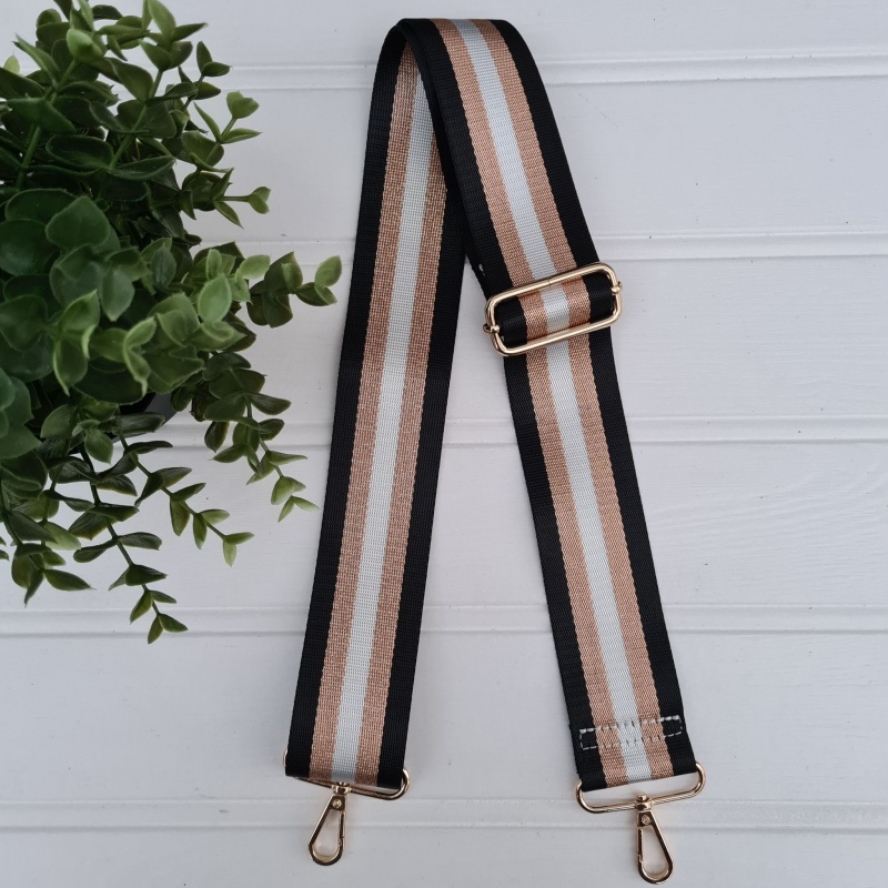 Bag Strap - Shimmer Metallic Stripe
