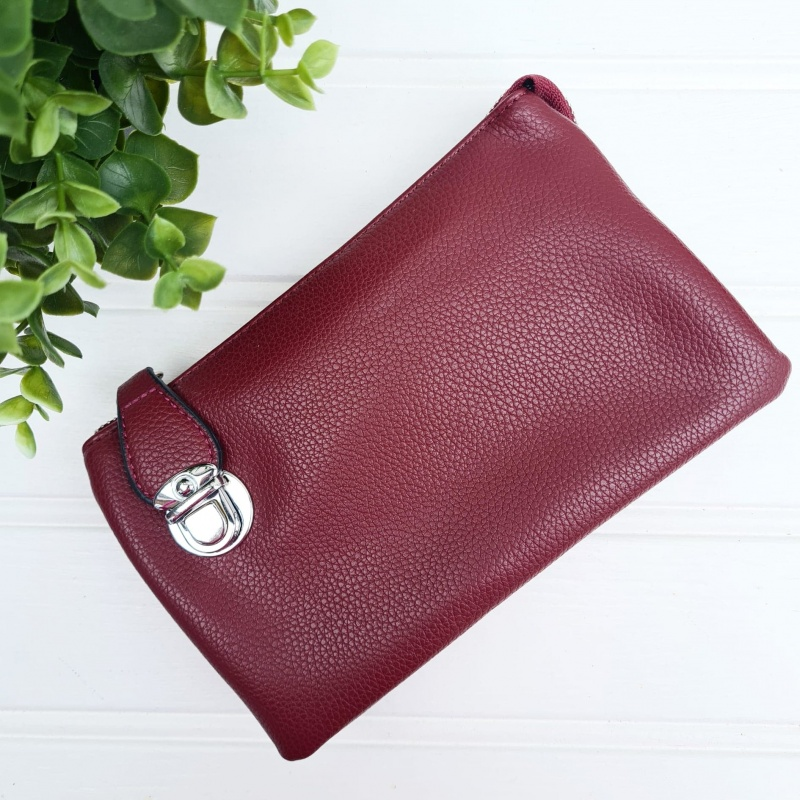 Crossbody Clutch Bag - Berry
