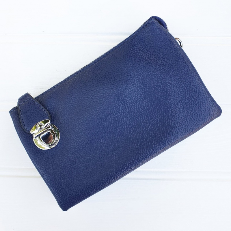 Crossbody Clutch Bag - Navy Blue