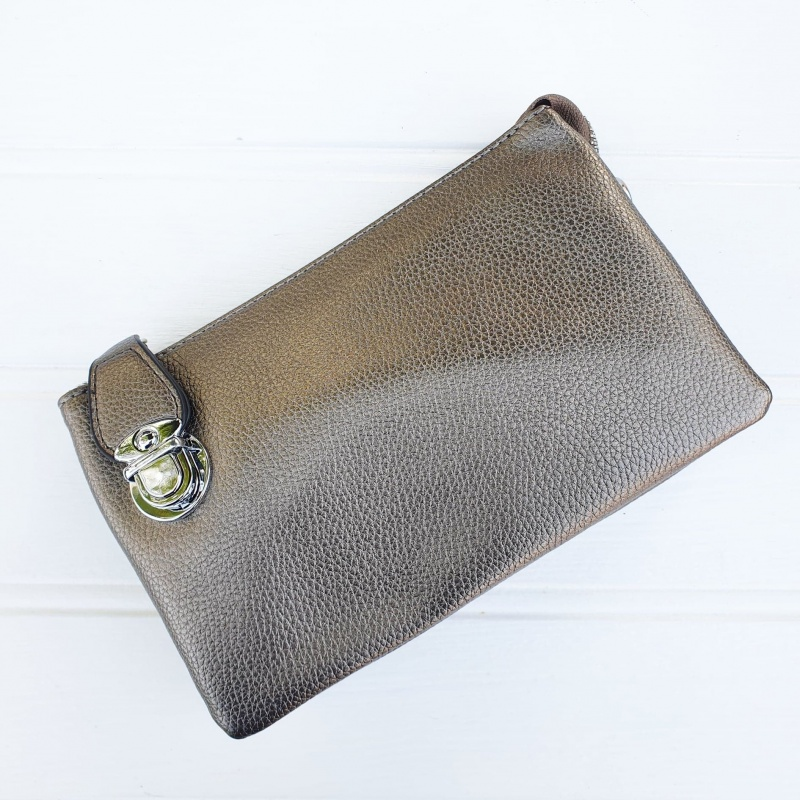 Crossbody Clutch Bag - Pewter