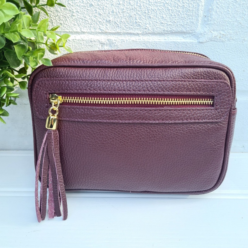 Leather Bag - Berry