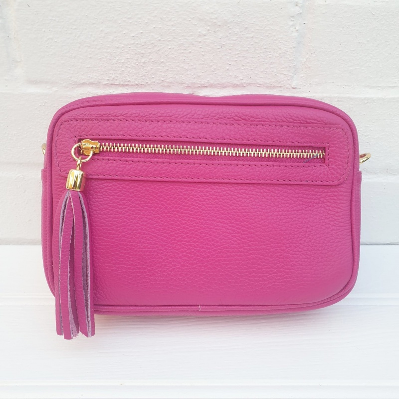 Leather Bag - Hot Pink