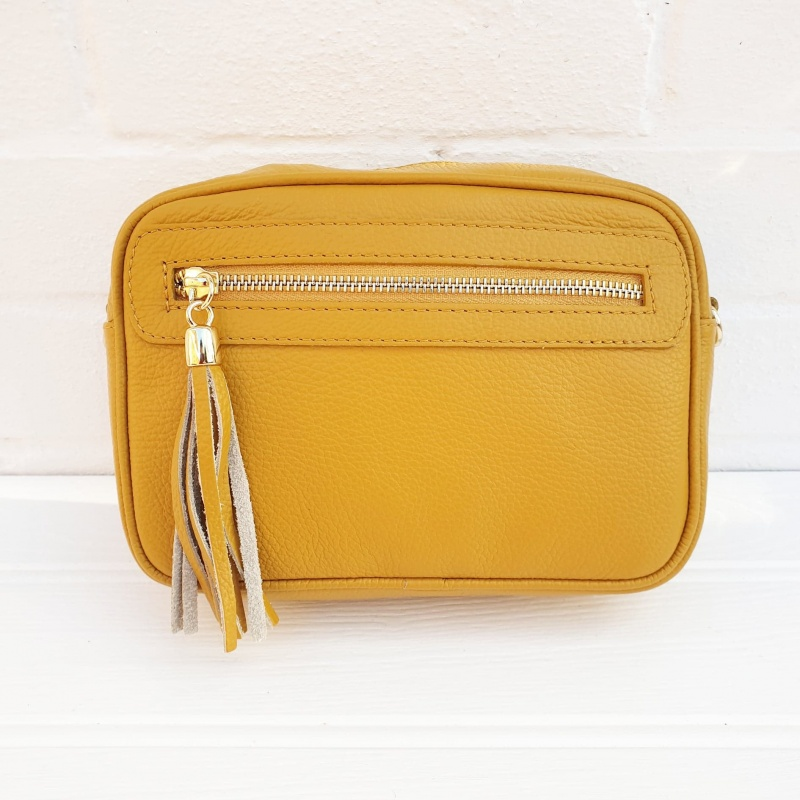 Leather Bag - Mustard
