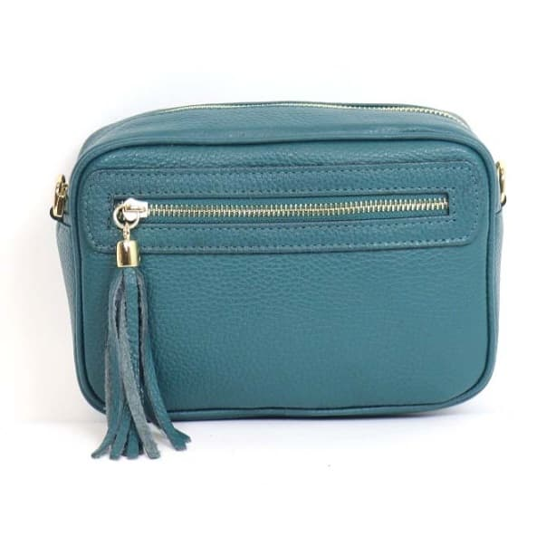 Leather Bag - Teal
