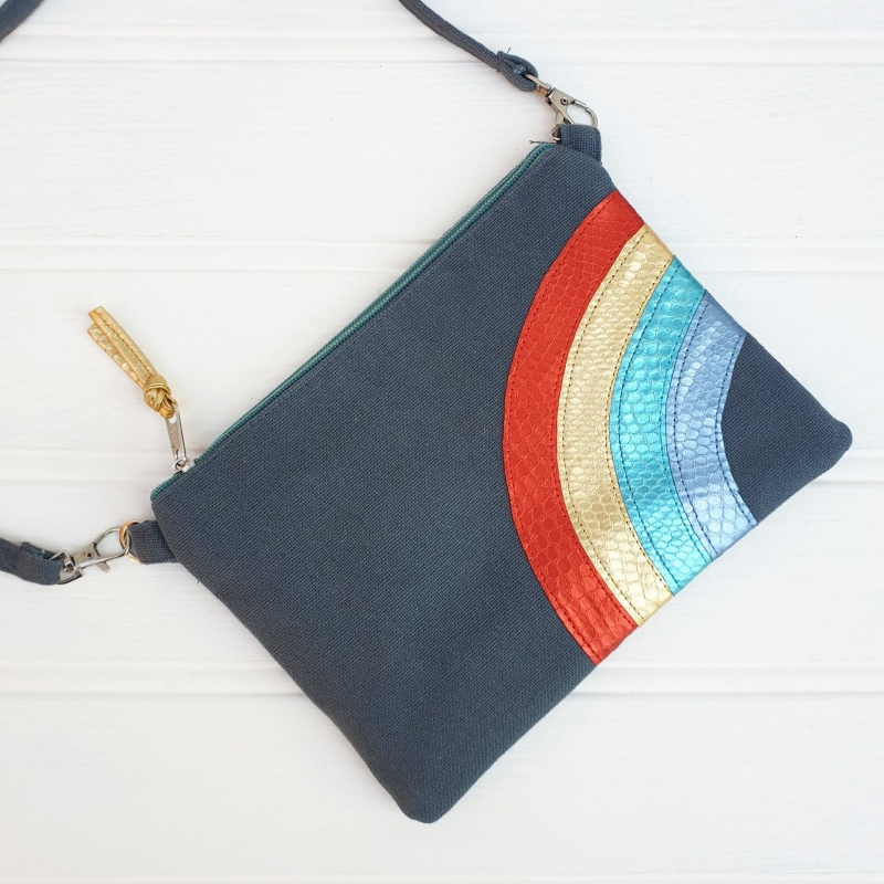 Rainbow Bag - Grey