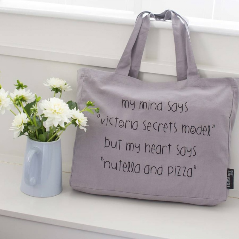 Victoria Secrets - Grey Tote Bag