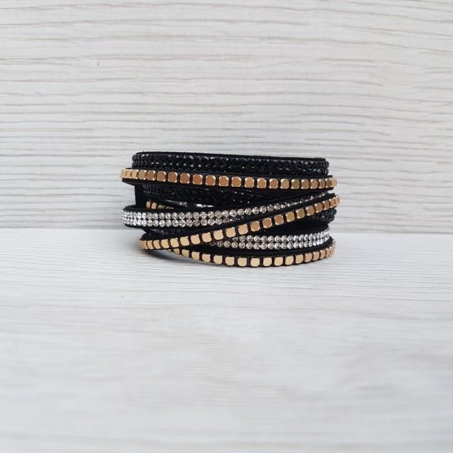 Glam Wrap Bracelet - Black