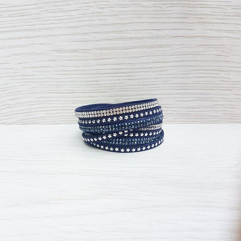 chunky navy product pretty bead bracelet crafty