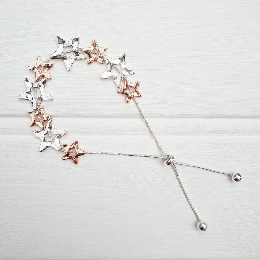 Star Friendship Bracelet - Rose & Silver