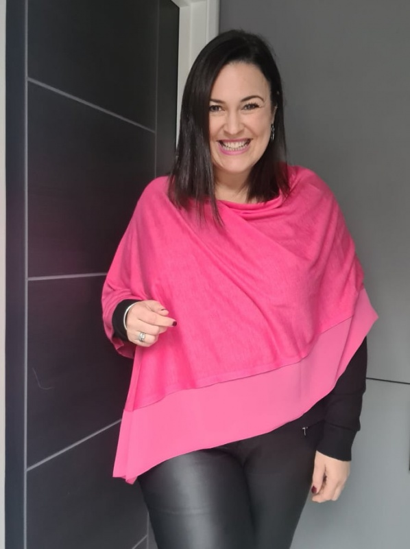 Lightweight Poncho - Hot PInk
