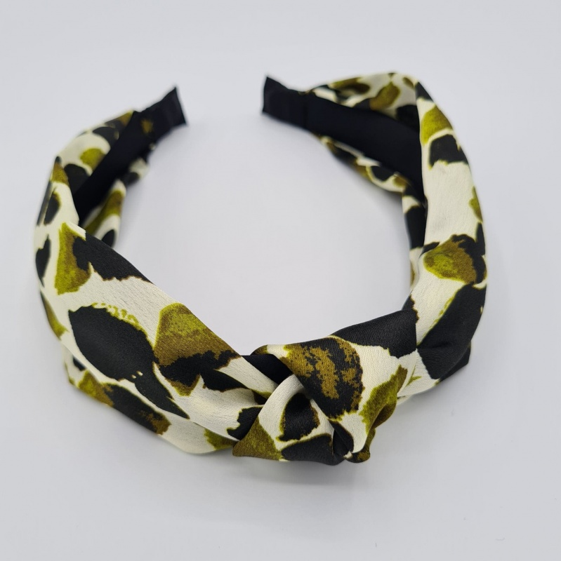 Hairband - Abstract Olive Green