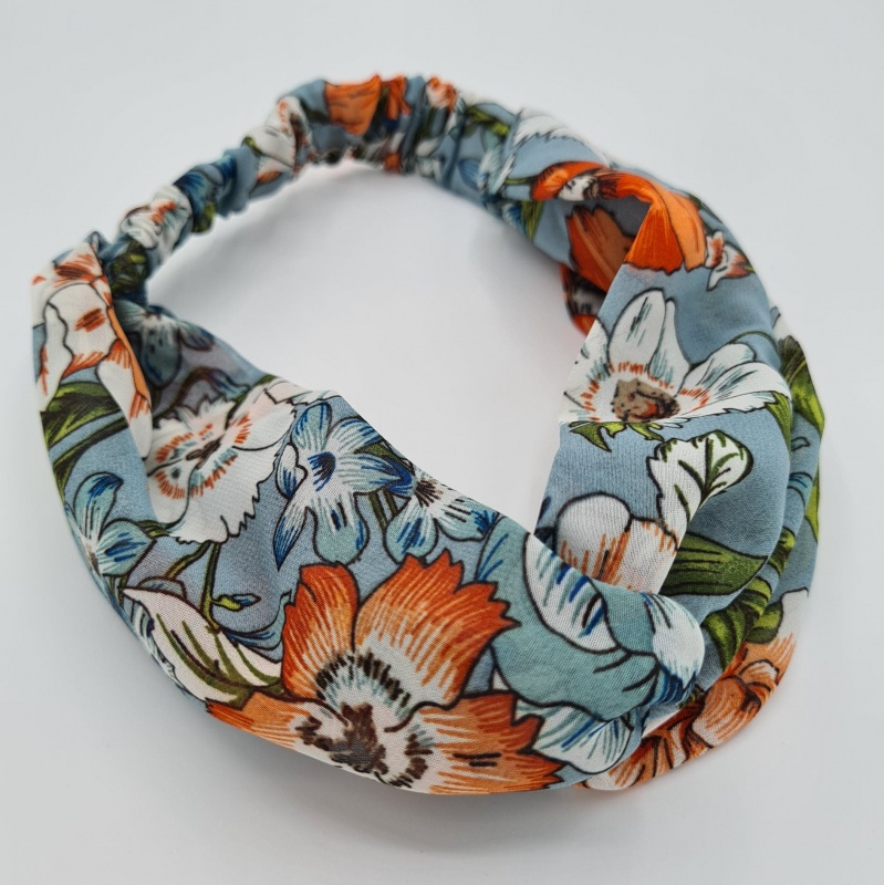 Headband - Floral Duck Egg