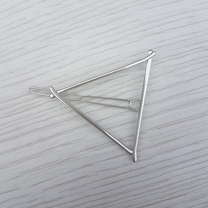 Triangle Hair Clip - Silver