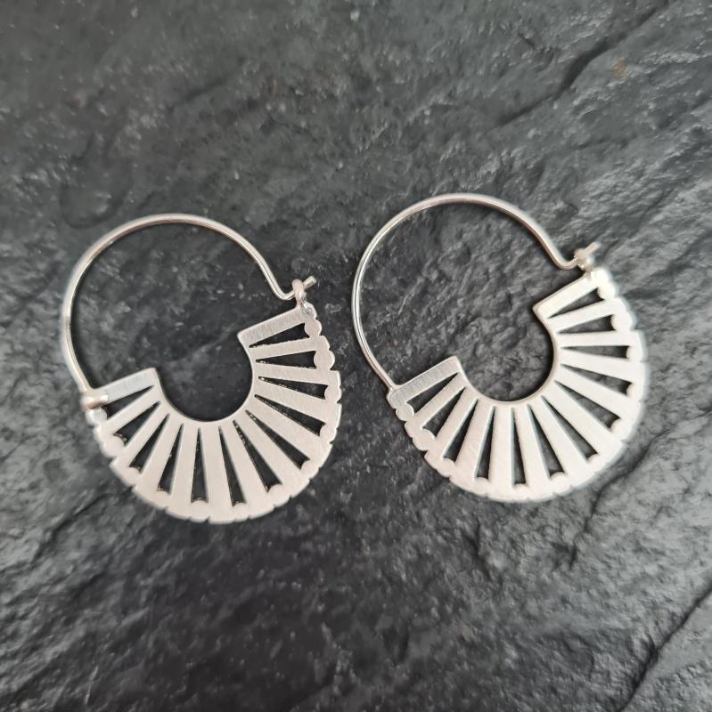 Sliver Fan Earrings