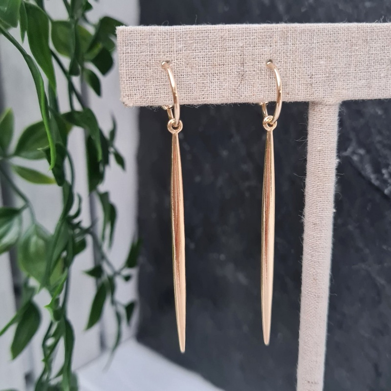 Spike Drop Earrings - Gold