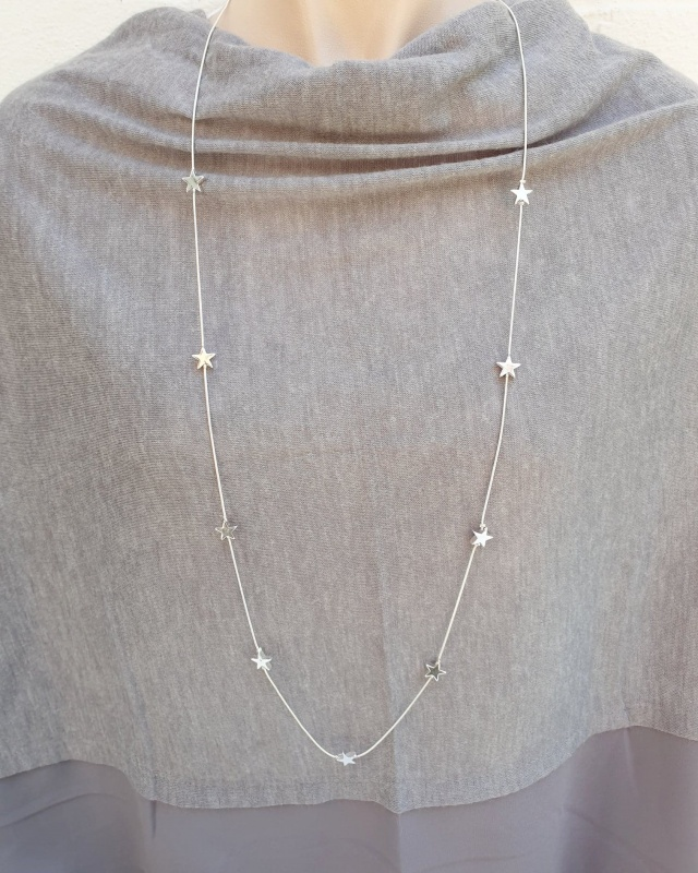 Adjustable Star Necklace - Silver