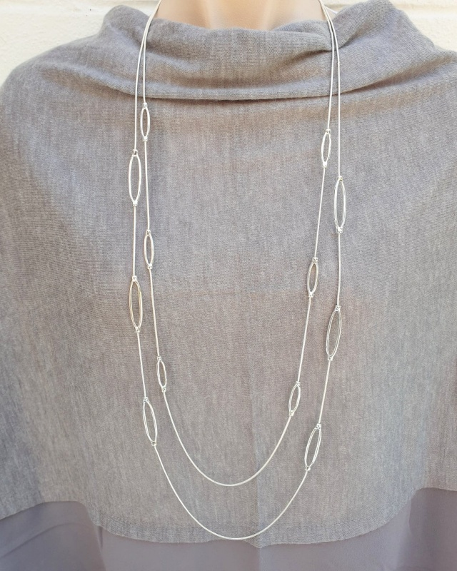 Eyelet Necklace - Silver