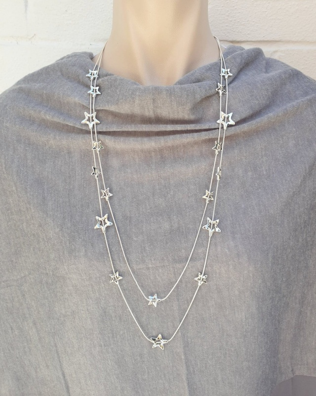Twinkle Star Necklace - Silver