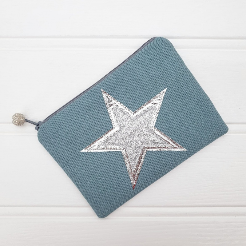 Double Star Coin Purse - Blue