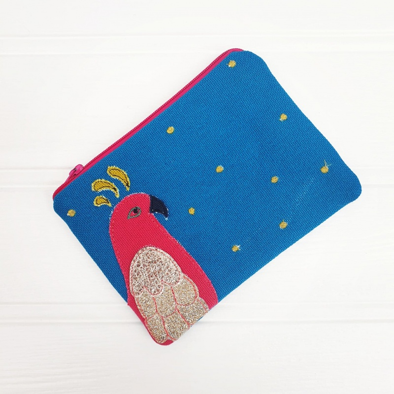 Parrot Coin Purse - Teal
