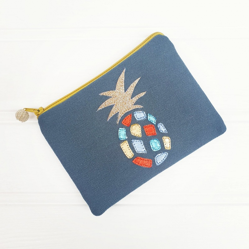 Pineapple Coin Purse - Grey