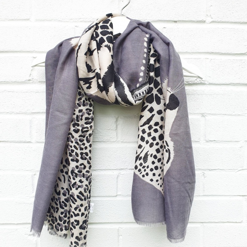 Animal Trio - Grey Scarf