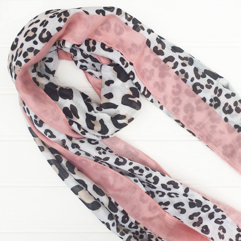 Lovin' the Leopard - Pink Scarf