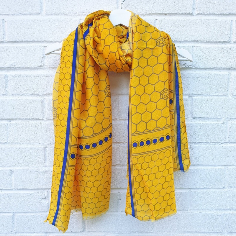 Honeycomb - Yellow Scarf