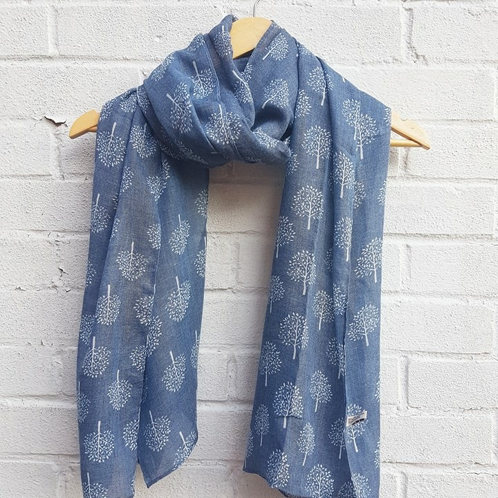 Mulberry Trees - Denim Scarf