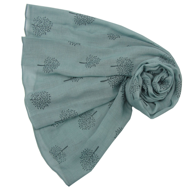 Mulberry Trees - Duck Egg Scarf