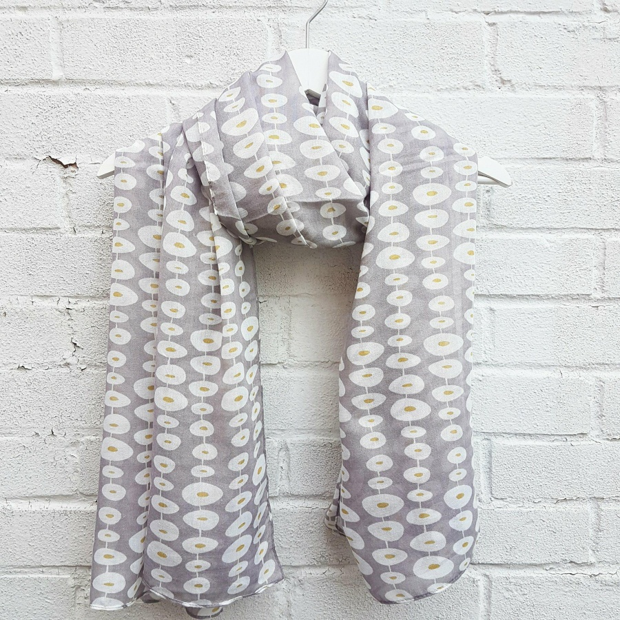 Stepping Stones - Grey Scarf