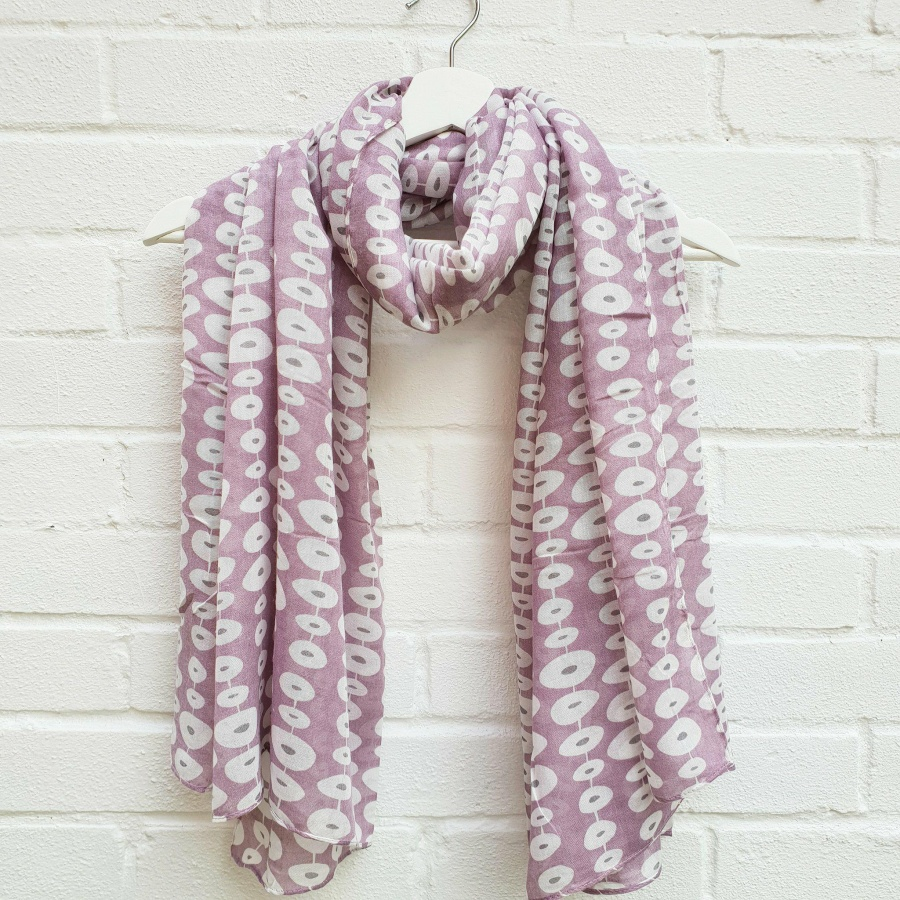 Stepping Stones - Purple Scarf