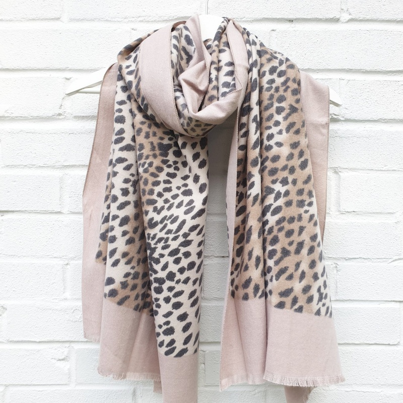 Animal Print - Blush Scarf