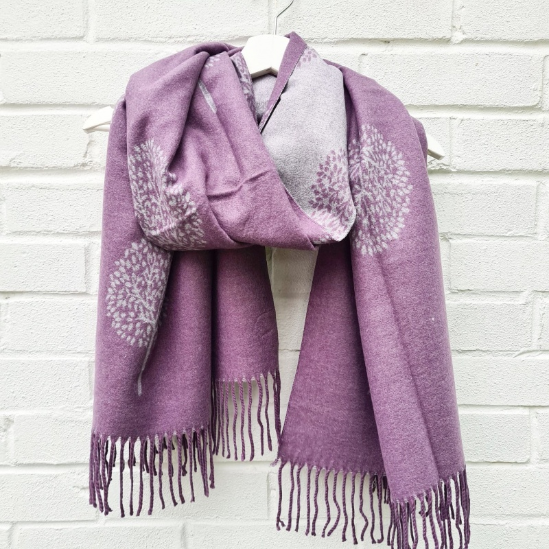 Cashmere Mix Mulberry Trees - Purple Scarf