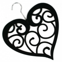 Heart Scarf Holder - Black