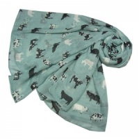 Cows - Duck Egg Scarf