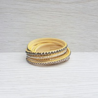 Crystal Wrap Bracelet - Cream