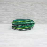 Crystal Wrap Bracelet - Green