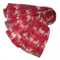 Deer Family - Red Scarf