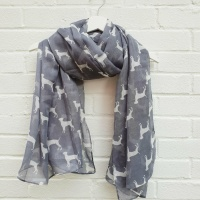 Dogs - Grey Scarf