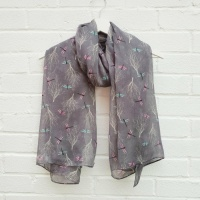 Dreamy Dragonflies - Grey Scarf
