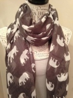 Elephants - Slate Scarf