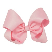 Oversized Ribbon Hair Bow - Baby Pink